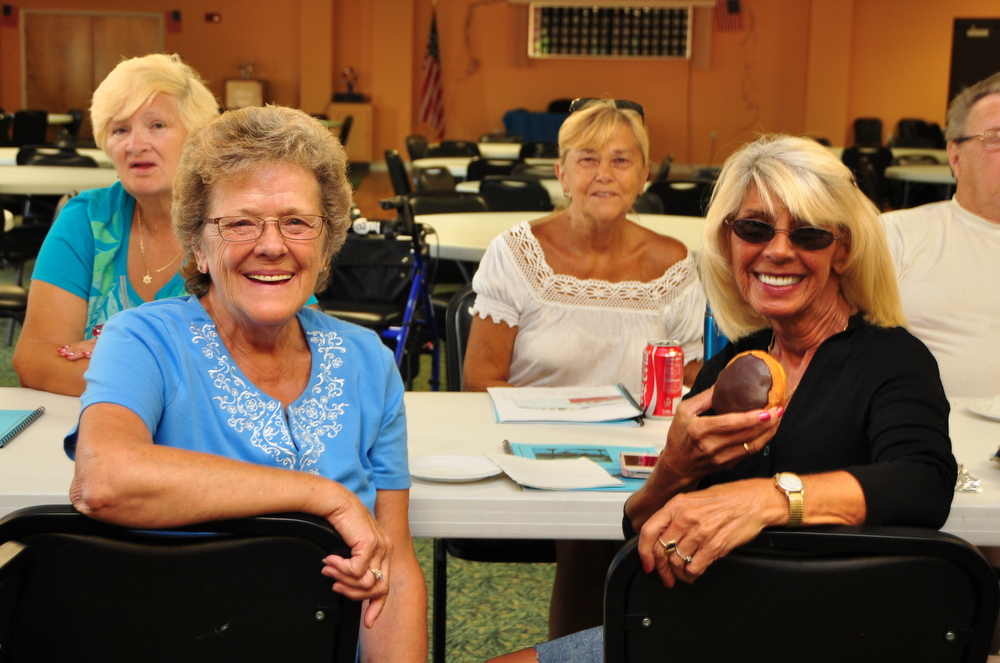 Residents socializing in community clubhouse